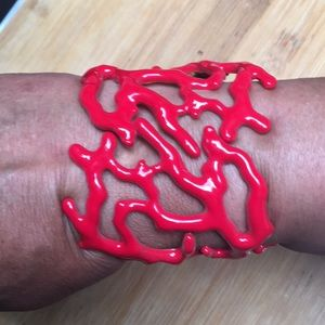 Kenneth Jay Lane Faux Coral Cuff